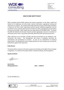 BMD002 Health & Safety Policy IssK