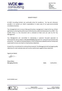BMD001 Quality Policy IssJ